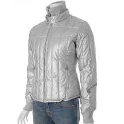 Steve Madden Metallic Quilted Bubble Jacket