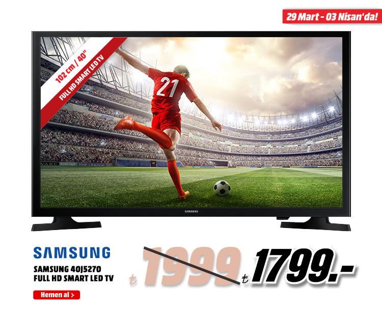 SAMSUNG UE40J5270DUXTK SS3 40 inç 102 cm Full HD LED TV 1799TL