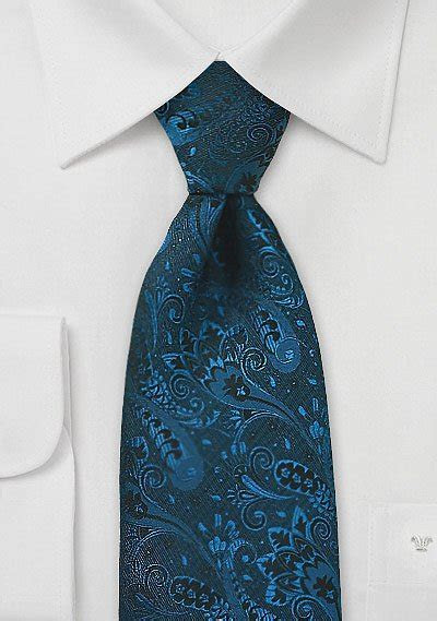 Dark Teal Blue Designer Tie   Bows N Ties.com
