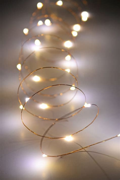 Copper Wire Outdoor Battery Operated LED Light String, 10