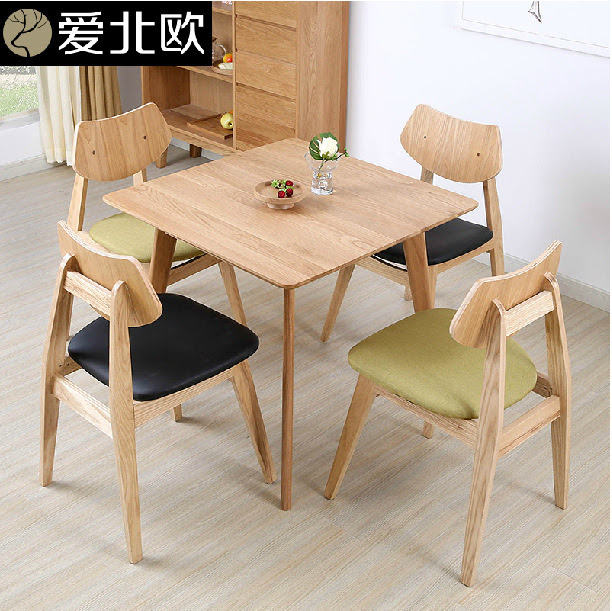 Small household dining table / solid wood Japanese style ...
