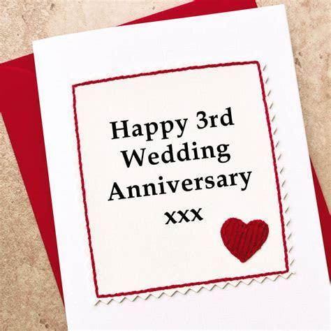 handmade 3rd wedding anniversary card by jenny arnott