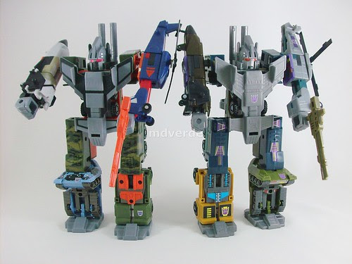 Transformers Bruticus G1 Encore vs RID Ruination