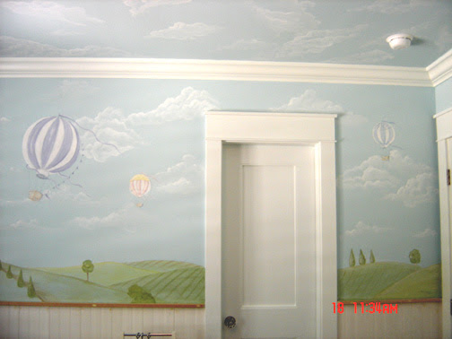 Hot Air Balloon Children's Mural