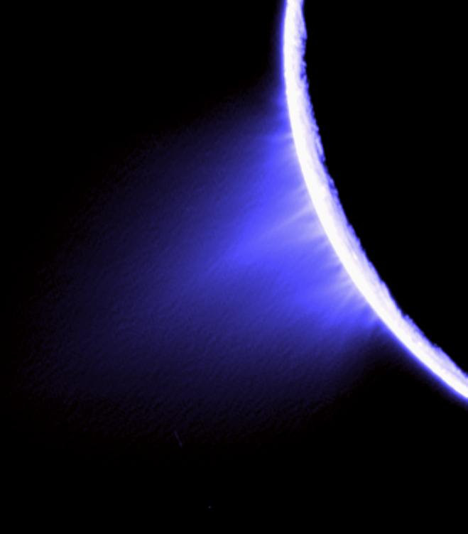Individual jets emanating from the surface of Saturn's moon Enceladus