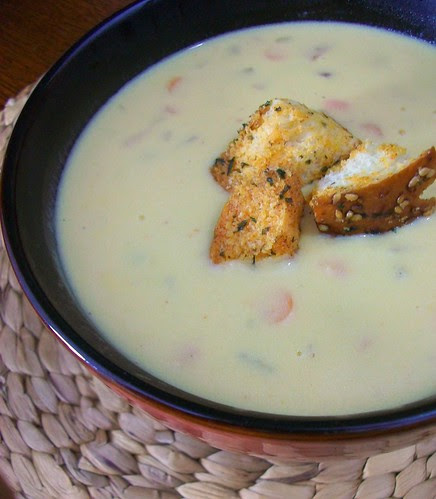 Cheddar Ale Potato Soup