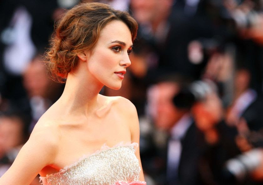 Actress Keira Knightley attends the Atonement premiere at the Venice Film