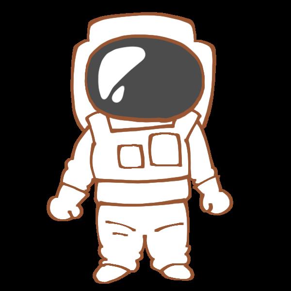 宇宙服を着た人のイラスト かわいいフリー素材が無料のイラストレイン