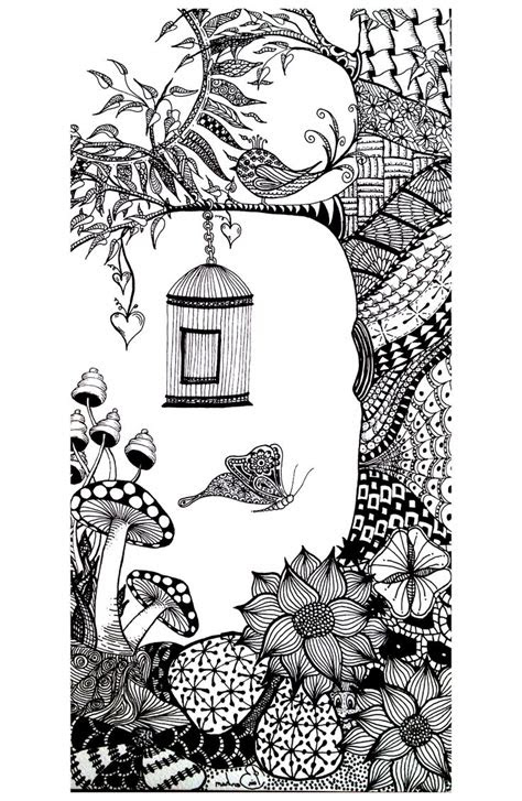 coloring page coloring adult animals bird butterfly
