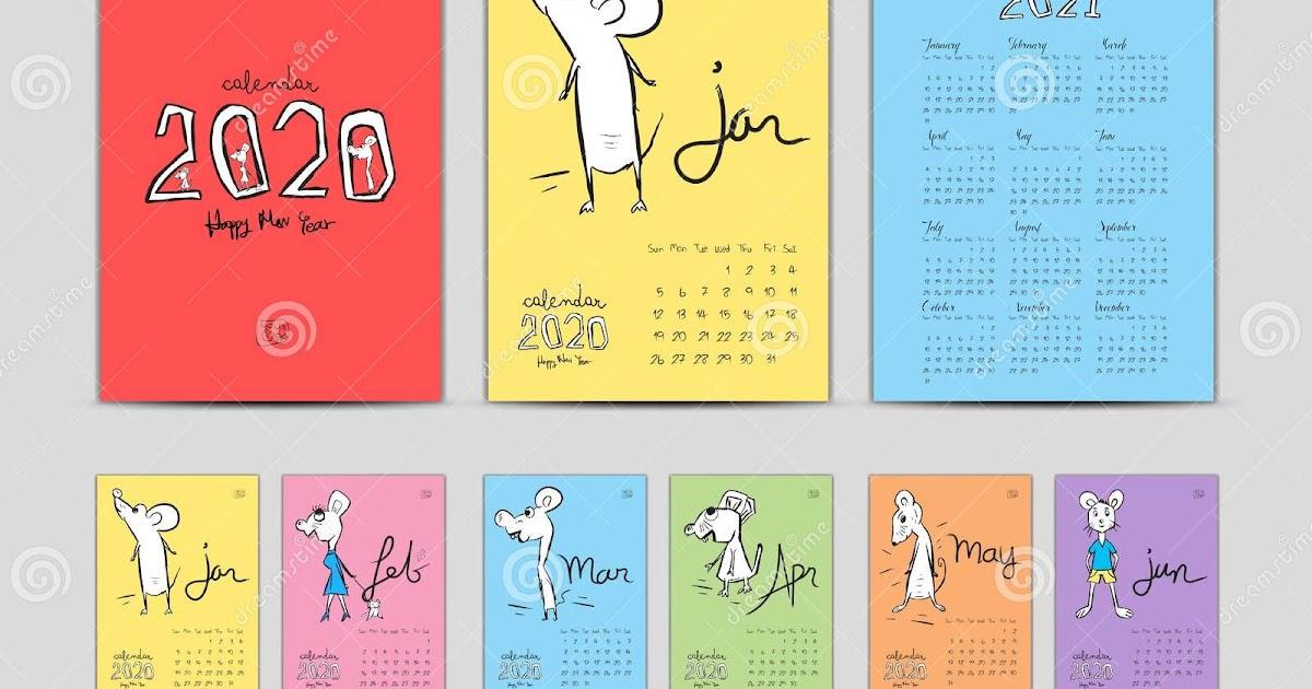 Desain Kalender 2021 / Calendar 2021 Template Red Creative ...