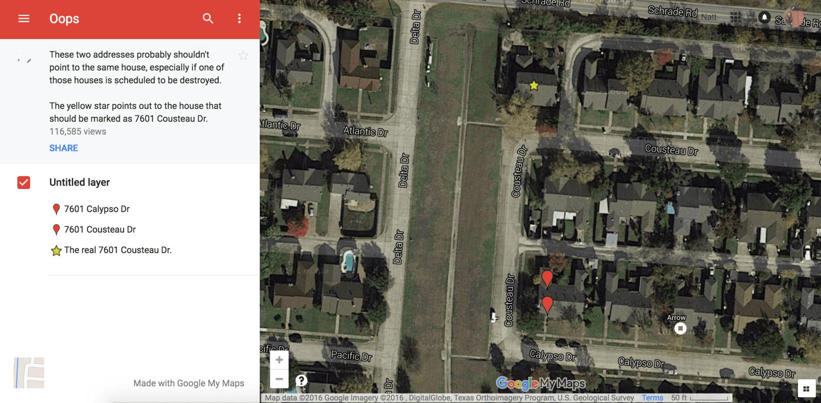 Demolition Company Says A Google Maps Error Led Them To