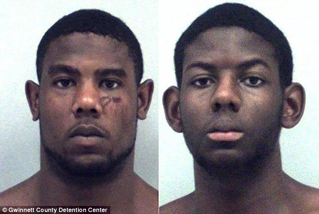 Christopher (left) and Cameron (right) Ervin, 22 and 17, were arrested after an alleged attack on their parents Yvonne and Zachary Ervin, both 50, at their Snellville, Georgia home last Saturday morning