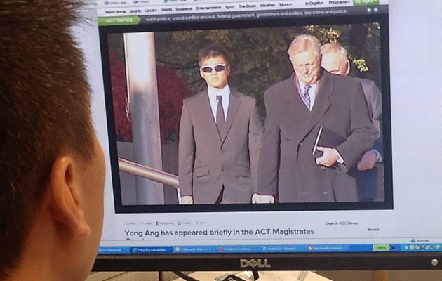 Yong Chuean Benedict Ang has pleaded not guilty to charges of indecent acts on a fellow ADFA cadet in Australia.