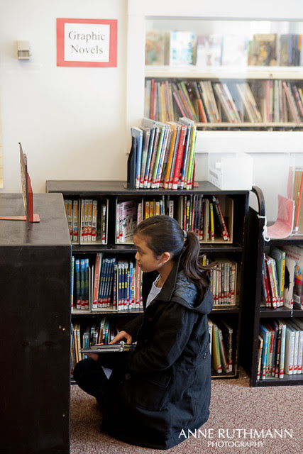 Graphic Novel Section of Library