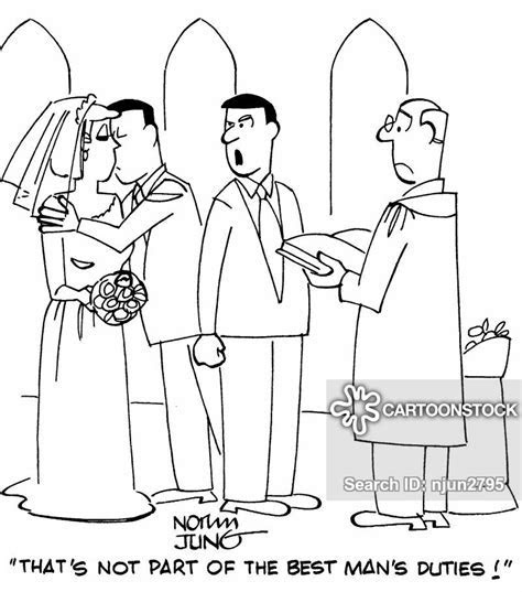 Best Man's Duties Cartoons and Comics   funny pictures