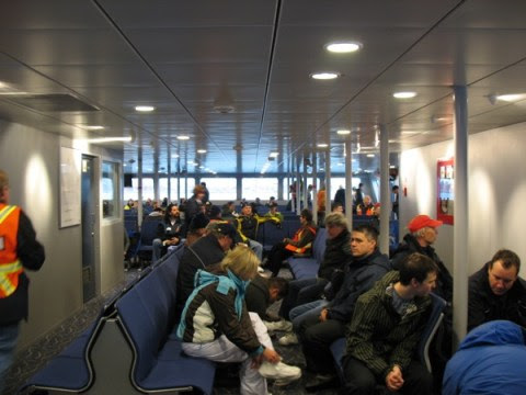 The middle of the SeaBus.