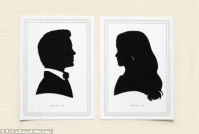 Silüetide: Blake Lively ve Ryan Reynolds kendi düğününde onlara kendi görüntüleri ile kartları dağıttı