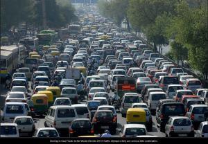 Brazil Sao Paulo Traffic congestion