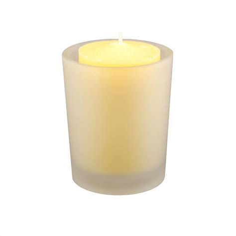 citronella candles hr  frosted glass votives ct