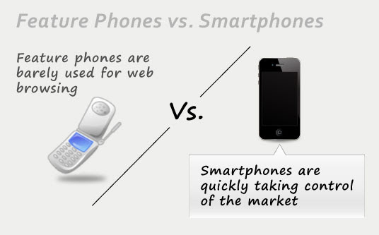 Feature phones vs. smartphones