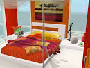 Fresh orange bedroom designs