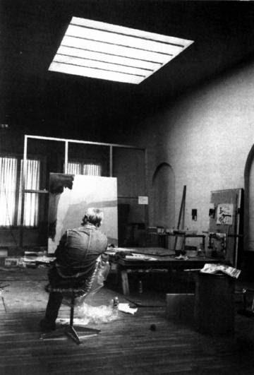 Willem De Kooning en su estudio.