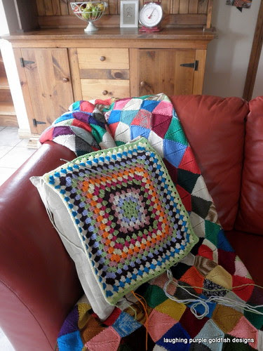 a cushion in the making