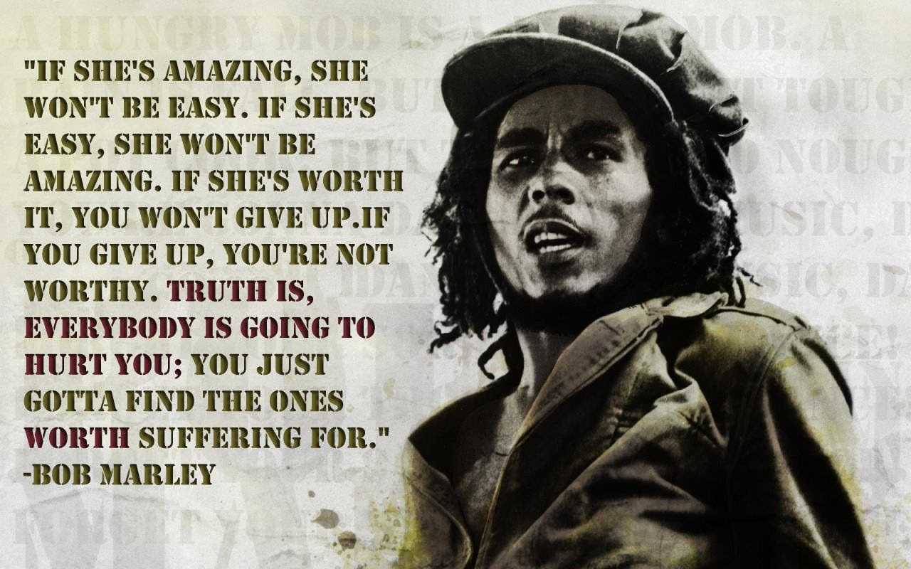 If Shes Amazing She Wont Be Easy Bob Marley 1280 X 800