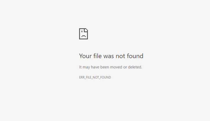 What is 404 Error Page