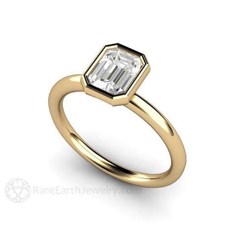 Emerald Cut Diamond Solitaire Wedding Ring 1ct GIA ? Rare