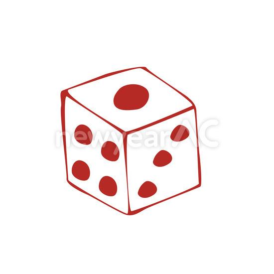 サイコロ 赤 No1026952019年の無料年賀状デザインなら年賀状ac