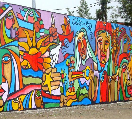 Mural Colectivo Brigada Ramona Parra