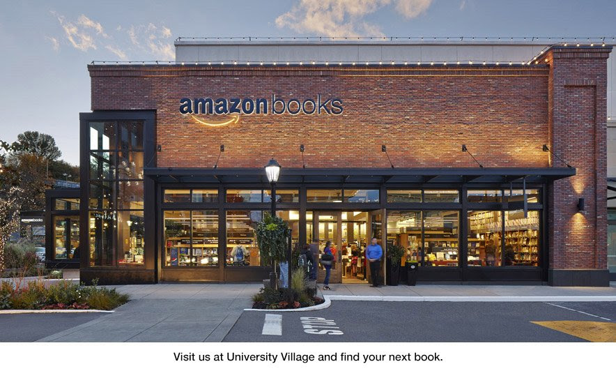 Visit us at University Village and find your next book at Amazon Books in Seattle.