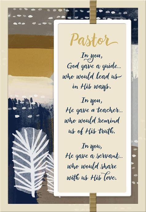 Guide, Teacher and Servant Pastor Appreciation Card