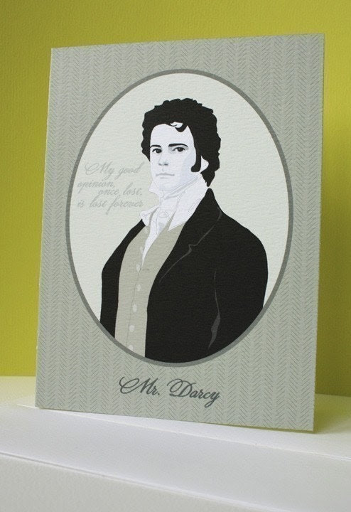 mr darcy note cards