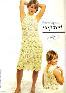 vestido de croche amarelo