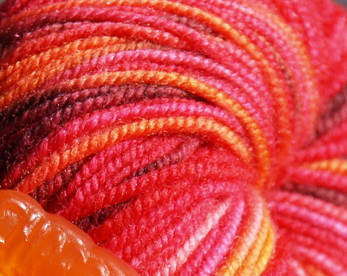 Colinette Jitterbug Sock Yarn with wine gum