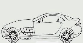 Sketsa Mobil Sport