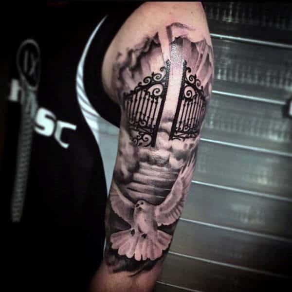 50 Heaven Tattoos For Men Higher Place Design Ideas