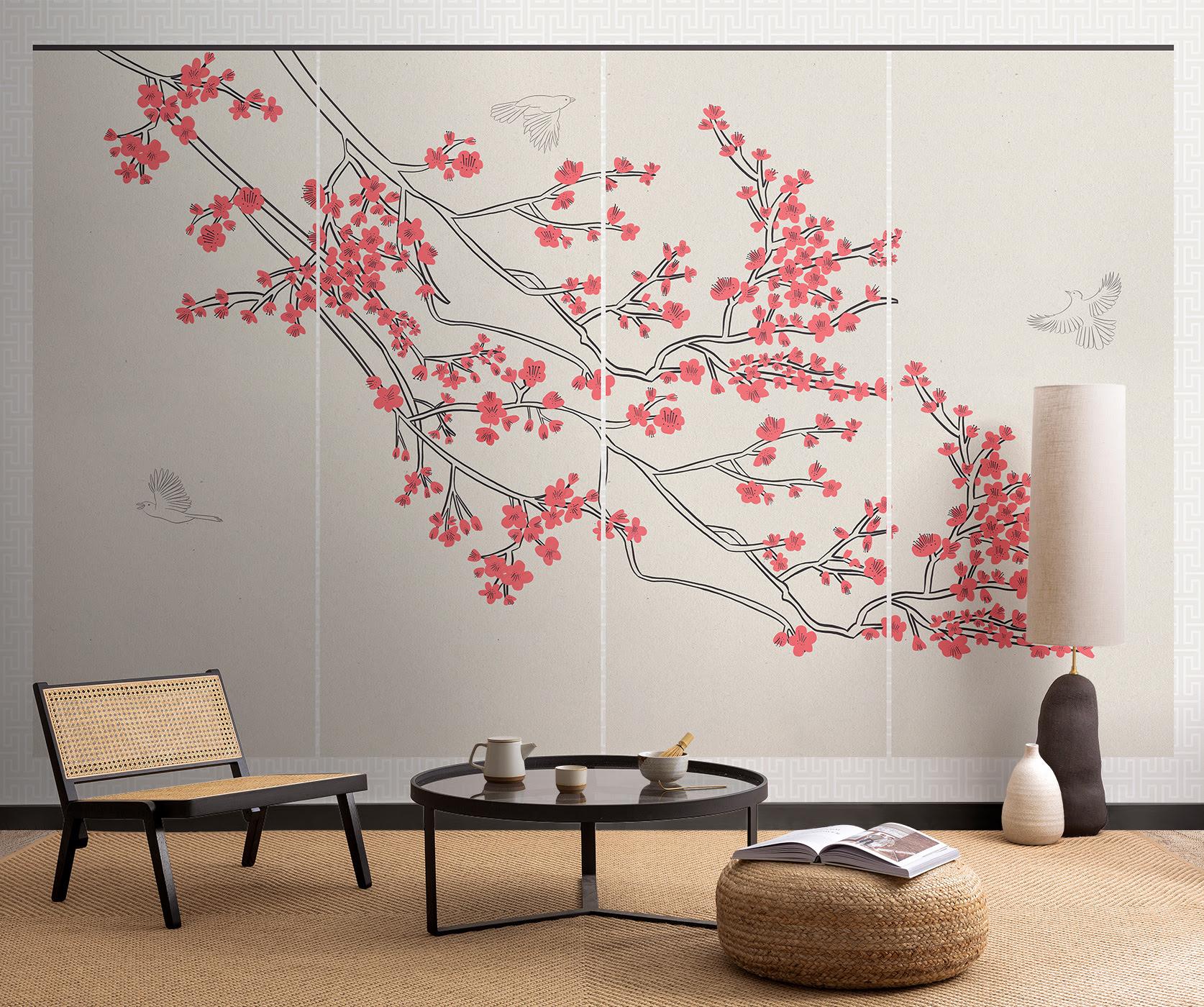 Murals Inspired By Japanese Design Celebrate The Start Of Sakura