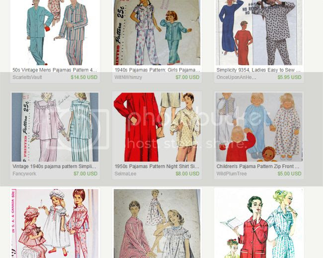 etsy vintage pajama party sewalong