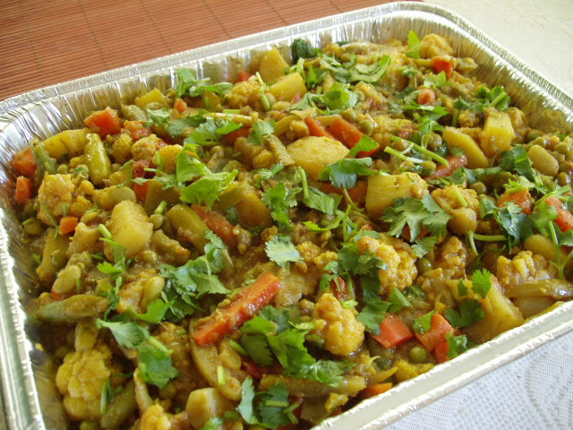 Aloo Gobi Mix Subzi for Potluck