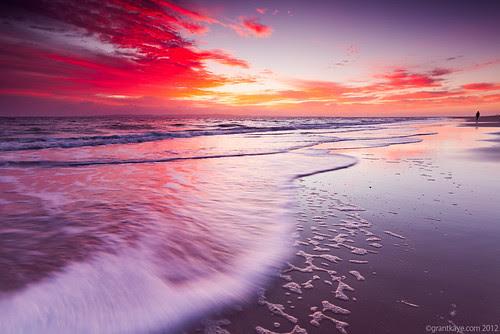 Sunrise Stroll, Bribie Island por Grant Kaye Photography