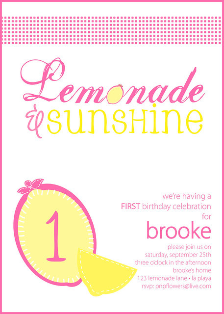 Lemonade & Sunshine Invitation