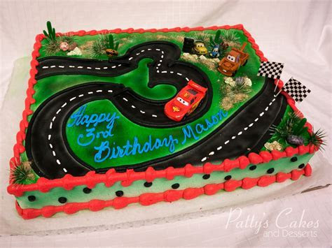 Photo of a disney cars birthday cake   Patty's Cakes and