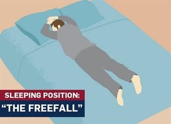 Freefall-sleeping-position