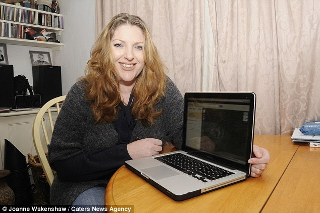 History lover: Fiona Powell, 38, of Bristol, came across the dark figure when she was scouring aerial views of Filton Airfield in South Gloucestershire on the internet