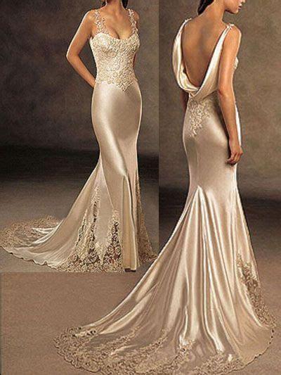 Long Silk Dresses   Silk Wedding Dresses Evening Gowns