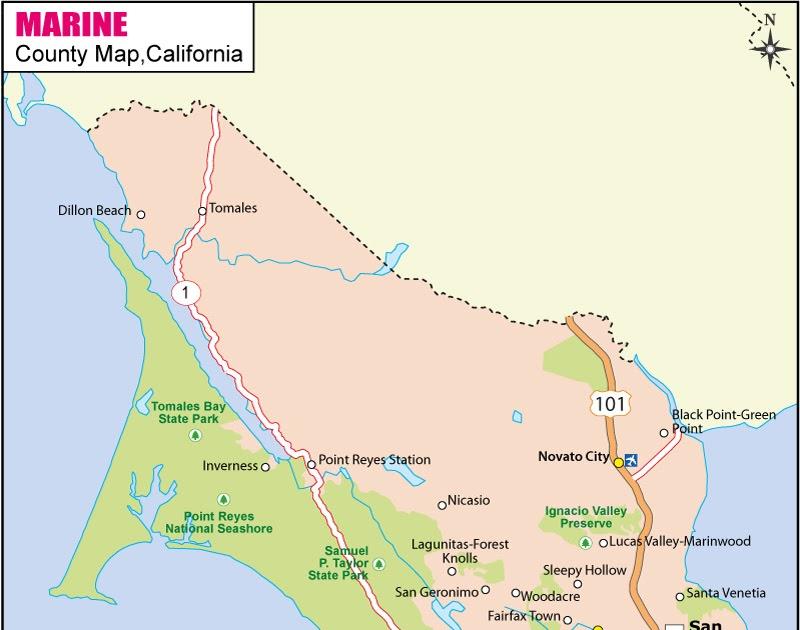 Marin County Map | World Map 07