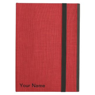 Red Linen Fabric Texture iPad Air Case